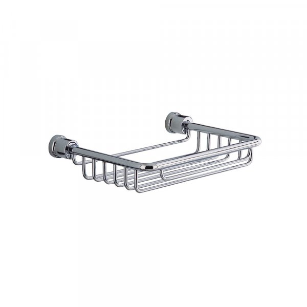 Bathroom Origins Chrome Square Wire Soap Basket