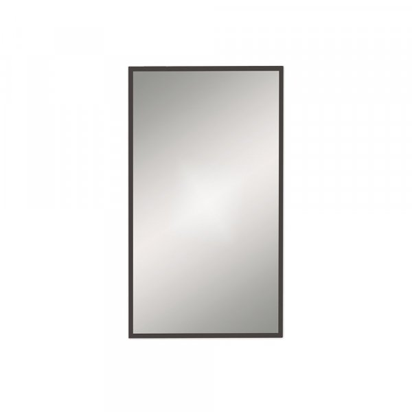 Bathroom Origins Docklands Black 80cm Rectangular Mirror