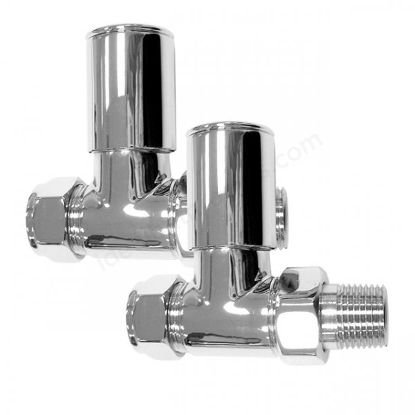 Essential 15mm Chrome Deluxe Straight Valve (Pair)