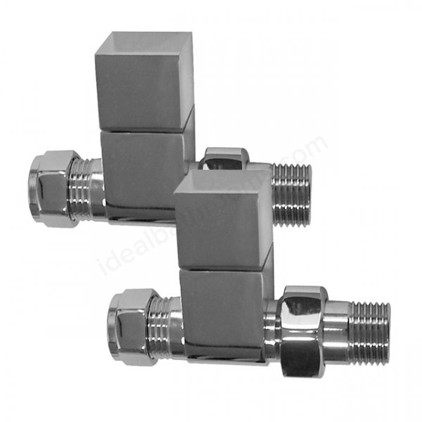 Essential 15mm Chrome Square Straight Valve (Pair)