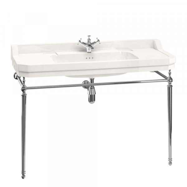 Burlington Medici Edwardian 120cm Basin and Chrome Wash Stand