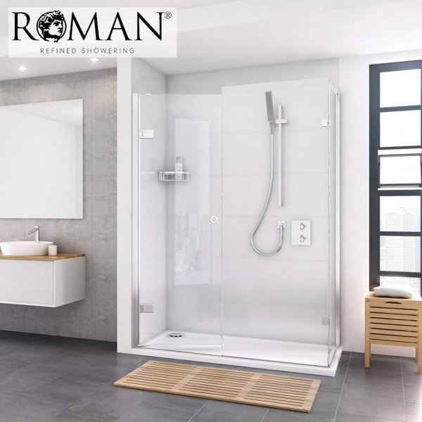 Roman Decem X 1400mm Hinged Door With Finger Pull Handle