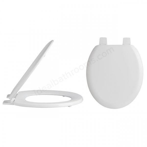 Bayswater Traditional Round Toilet Seat with Plastic Hinges