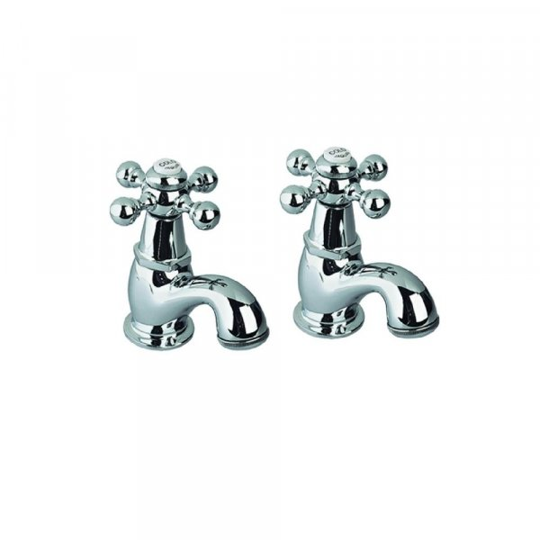 Just Taps Plus Queens Traditonal Basin Taps Pair - Chrome