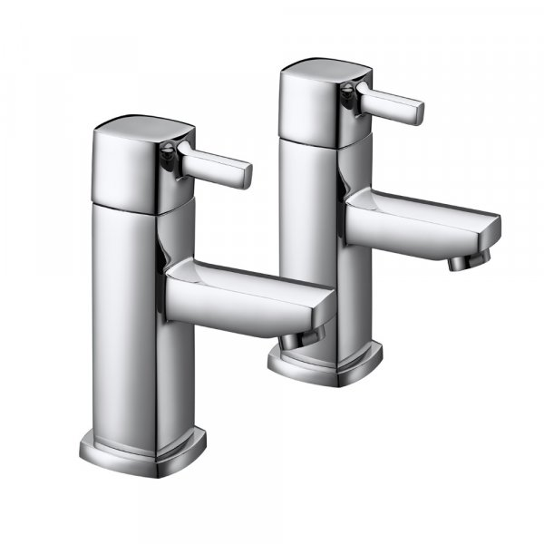 Just Taps Plus Milo Deck Mounted Basin Taps Pair - Chrome