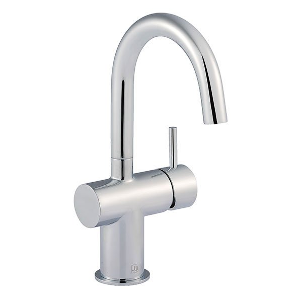 Just Taps Plus Florence Side Lever Basin Mixer Tap Single Handle - Chrome