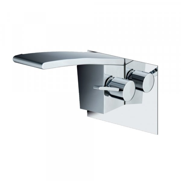 Just Taps Plus Wings Wall Mounted Basin Mixer Tap Single Handle - Polished Chrome