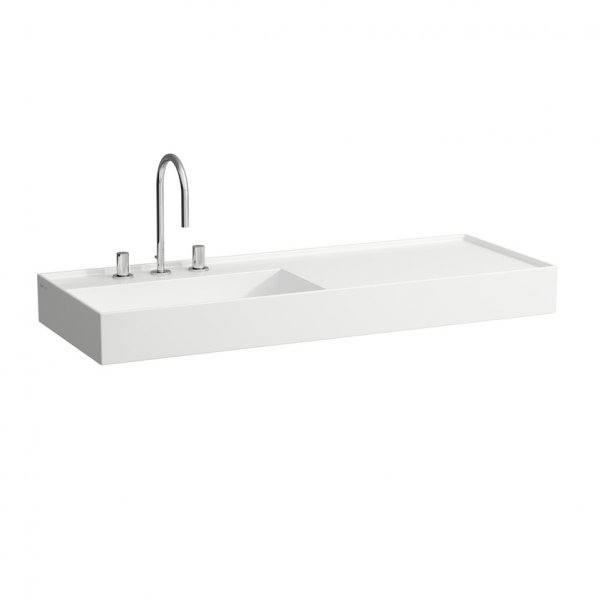 Kartell by Laufen 120cm SaphirKeramik Basin with Right Hand Shelf