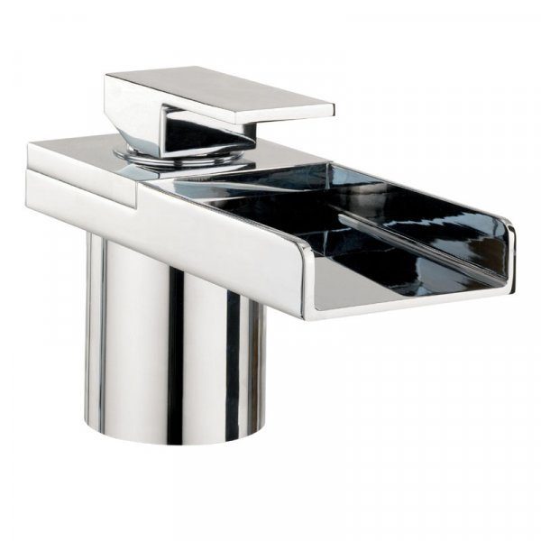 Crosswater Water Square Lights Monobloc Bath Filler with Lights