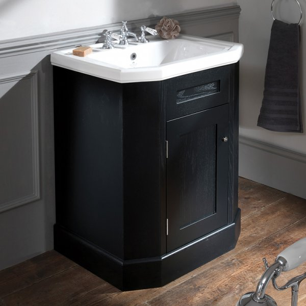 Silverdale Empire 700mm Inset Basin with Black Cabinet