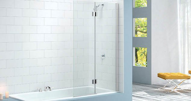 Merlyn Two Panel Hinged Bath Screen Mb7 Bathroom