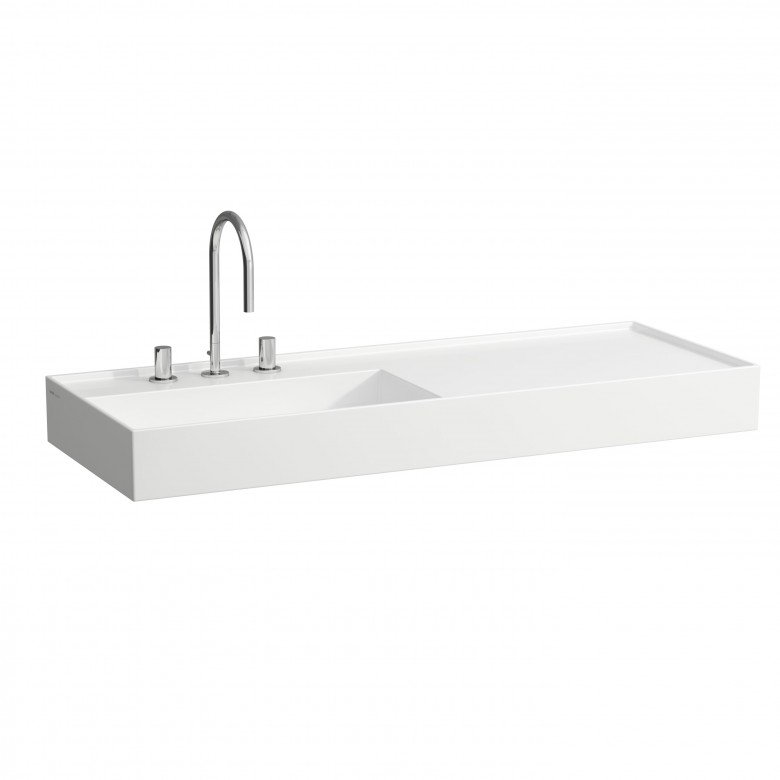 Kartell By Laufen Saphirkeramik.Kartell By Laufen 120cm Saphirkeramik Basin With Right Hand Shelf
