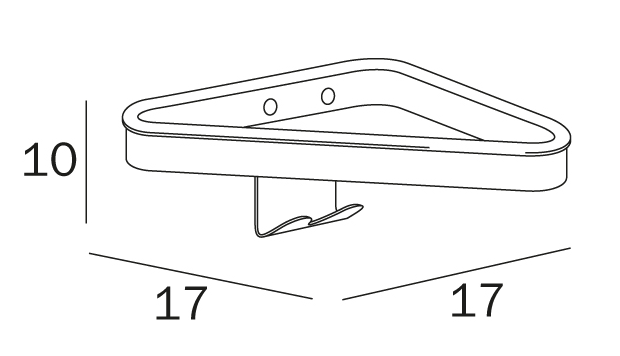 Inda Hotellerie Corner Shelf (A04310)