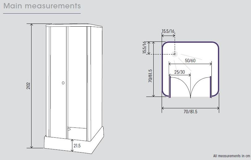 Kinedo Consort 800 X 800mm Complete Shower Cubicle