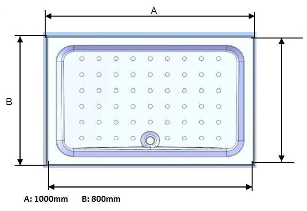 Coram Rectangle 1000 x 800mm Shower Tray