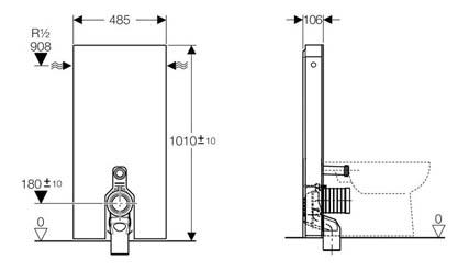 geberit wc frame dimensions. Black Bedroom Furniture Sets. Home Design Ideas