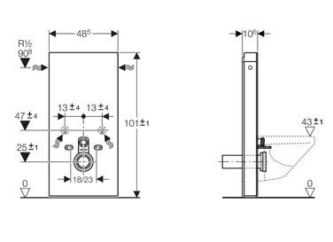 geberit monolith for wall hung wc 101cm bathroom supplies online. Black Bedroom Furniture Sets. Home Design Ideas