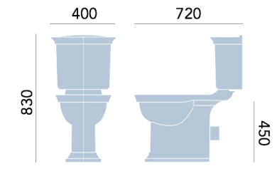 Heritage Blenheim Standard Height Close Coupled WC & Cistern