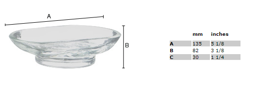Smedbo Xtra Spare Clear Glass Soap Dish