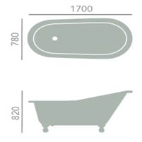 Heritage Hampshire Freestanding Cast Iron Slipper Bath