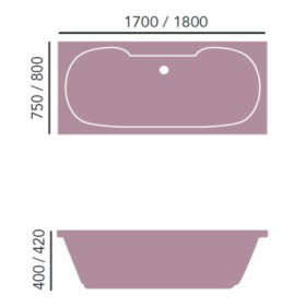 Heritage Dorchester 1800mm Double Ended Bath